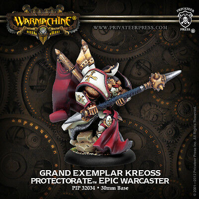 Warmachine Menoth Epic Warcaster Grand Exemplar Kreoss