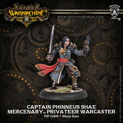 Warmachine Mercenary Warcaster Captain Phinneus Shae