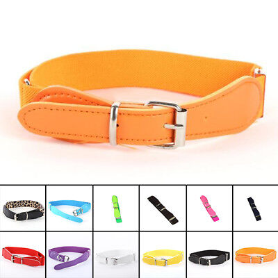 Toddler Baby Kids Boys Girls Adjustable Leather Casual Belt W/ Elastic Waistband