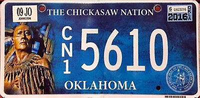 Oklahoma 'Chickasaw Nation' Indian Tribe License Plate (CN15610)