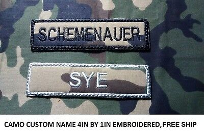 **LOVE IT OR IT'S FREE** CAMO Custom Embroidered NAME TAG,Hook and Loop Fastener