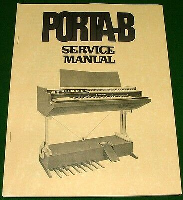 Service Repair Manual for Hammond PORTA-B Organ: Disassembly, Schematic Diagrams