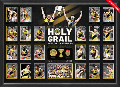 2017 Richmond Tigers Holy Grail Final Premiers Premiership Framed Poster Print