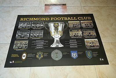 The Premiership History Richmond Tigers Official Afl Premiers Print 1980 1974