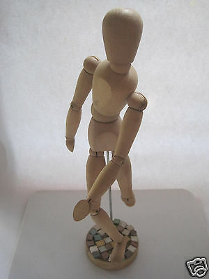 Wooden Moveable Human Figure Model for Art Drawing 13 1/2 inches
