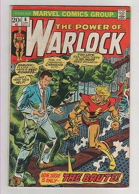 The Power Of Warlock Comic Book #6 Jun 1973  Marvel Comics VG