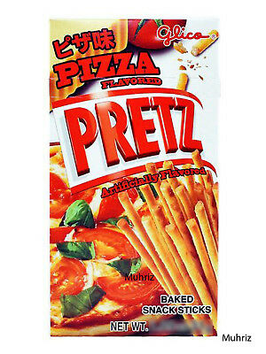 2x GLICO PRETZ PIZZA FLAVOUR Japanese Thailand Snack Candy Food Sweet 31gm