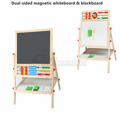 Kids Easel Art Children Multifunctional Double-Sided Wood Magnetic Drawing Board