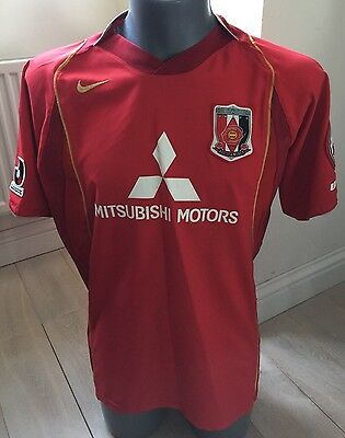 RARE Authentic Urawa Red Diamonds 2004 Men's Large Home Football Shirt SUPER CON
