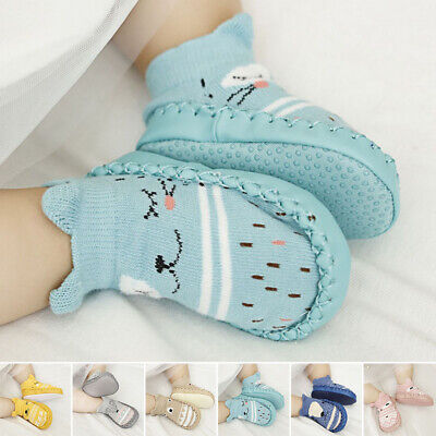 Baby Kids Soft Cartoon Shoes Toddler Anti-slip Boots Slipper Socks prewalker 18M