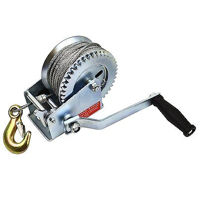 Hand Winch for Boat/Car Trailer 1200lb Complete with 20m Cable TH023