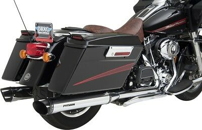 Python 1801-0744 Rayzer Slip-On Mufflers Chrome