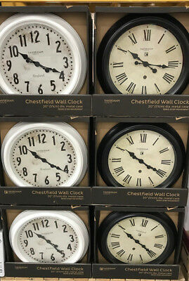 """Gallery Chestfield 20"""" Wall Clock Brand New In Box"""