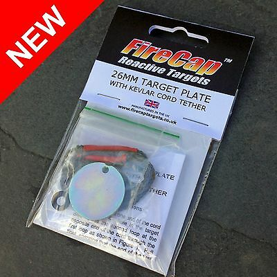 26mm target disc with kevlar tether for use with FireCap Exploding Targets (SE)