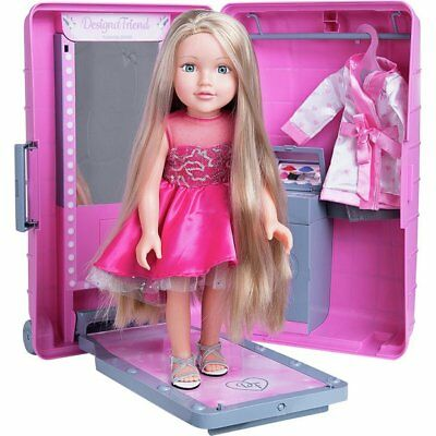 Designafriend STYLE & GO SUITCASE & Extra Long Haired Doll Boxed NEW & Clothes