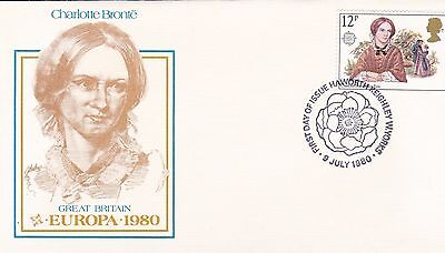 Great Britain 1980 2 First Day Europa Covers Bronte & Eliot