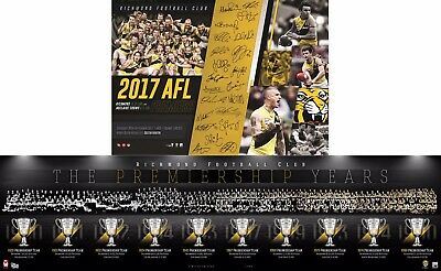 2017 Richmond Premiership Years History Montage Print & Premiers Poster