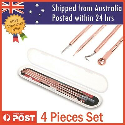 Blackhead Acne Pimple Popper Extractor Remover Tools Set Stainless Steel 4 pcs