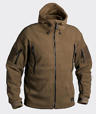 HELIKON TEX PATRIOT HEAVY FLEECE Outdoor Kapuzen JACKE Jacket COYOTE TAN XSmall