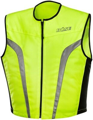 büse High Visibility Vest Size 3XL Neon Yellow Motorcycle Luminous Flap Free