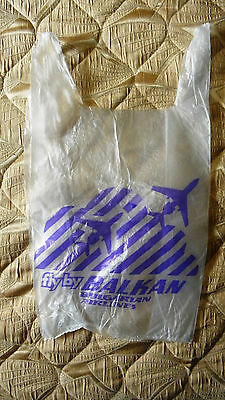 Balkan Airlines Werbe Plastic Bag Nylon 1980s Reklam Advertise Airplane aircraft