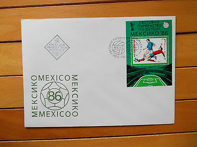 First Day Cover Bulgaria Mexico 1986 World Cup 3