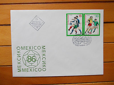 First Day Bulgaria Cover Mexico 1986 World Cup 2