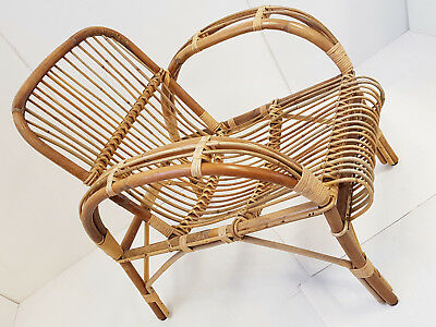Superbe Fauteuil 50S Rosin Osier Bambou 1950 Vintage 50's Rockabilly Annees 50