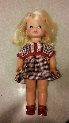Vintage Mattel Chatty Cathy 1970 Doll. Mute with cute outfit.