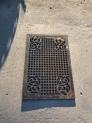 01 Antique Decorative Floor Heating Grate Or Wall Grate 18 3/8 X 26.75