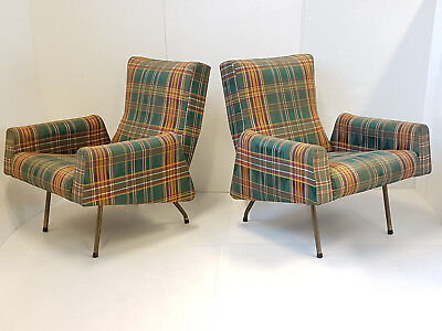 Louis Paolozzi Edition Zol Pair of Armchairs 1950 Vintage Rockabilly Years 50