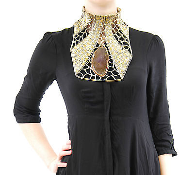 Brand New Anndra Neen Women Lace Brass Pectoral Collar Luxury Mint New BCF53