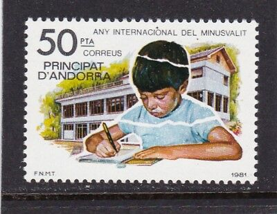 Andorra Spanish #129 Mnh International Year Of The Disabled