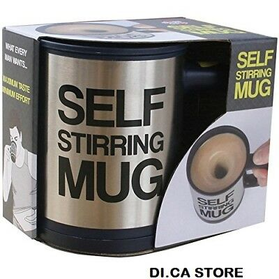 Tazza Automescolante Self Stirring Mug Idea Regalo Caffe Latte Per Cappuccino