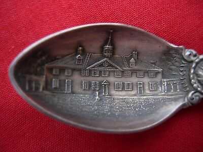 Souvenir spoon  sterling silver  ORNATE Mt Mount Vernon VA Virginia F A Whelan