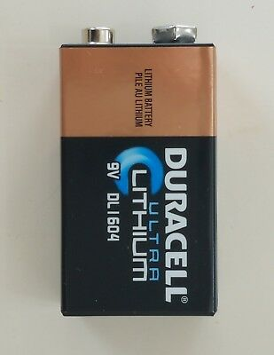 DL1604 DURACELL  9V 9 Volt ULTRA LITHIUM  BATTERY < FREE WORLD WIDE SHIPPING >