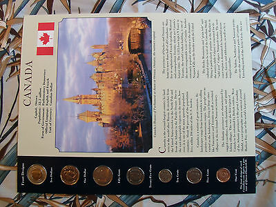 Coins from Around the World Canada 7 coin set BU UNC all 2004 but 50 cents 2002