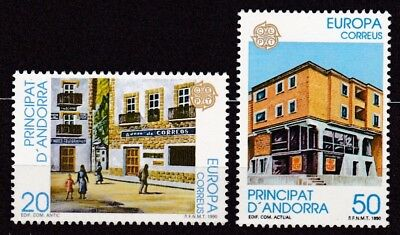 Andorra Spanish #205-206 Mnh Europa Cept 1990 (Post Offices)