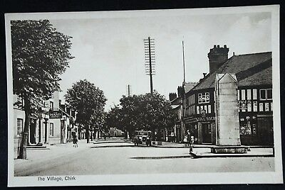 Old Postcard - The Village, Chirk, Denbighshire, Wales