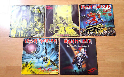 "Job Lot X5 Iron Maiden 7"" Vinyls With Not So Good Sleeves>>Emi"