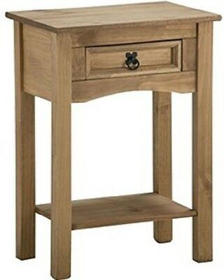 Corona Console Table 1 Drawer With Shelf End Hallway Waxed Pine