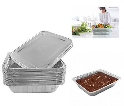 Perfect for Catering Aluminum Foil Steam Table Pans w/ Lids Broiling Baking 30PC