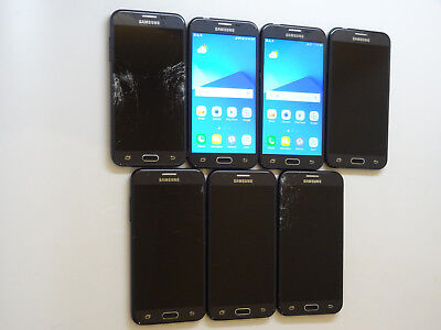 Lot of 7 Samsung Galaxy J3 Prime SM-J327T Smartphones All Power On AS-IS GSM