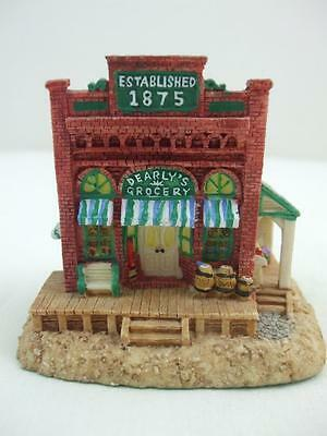 """Dearly""""s Grocery Store AH154 Liberty Falls Americana Collection 1998 Resin House"""
