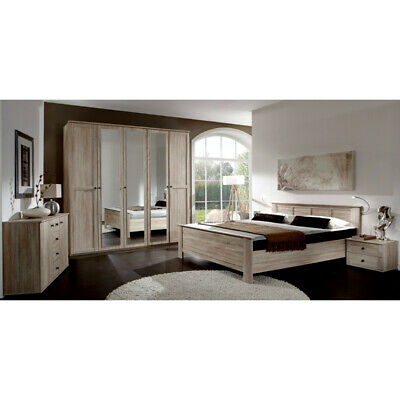 schlafzimmer komplett kleiderschrank kommode 2 nachttische bett eur 1 00 picclick de. Black Bedroom Furniture Sets. Home Design Ideas