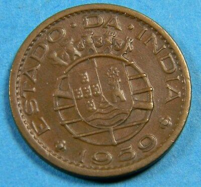 Portuguese India 1959  10 centavos coin (0599) AG#R 13.02 (Mint.incl.in 1958)