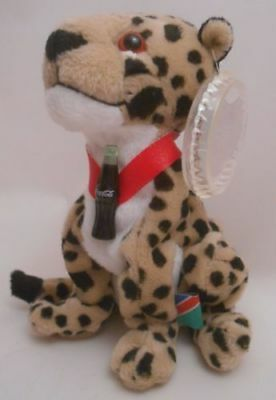 Coca-Cola International Collection Heeta Cheetah Namibia Bean Bag Plush Coke