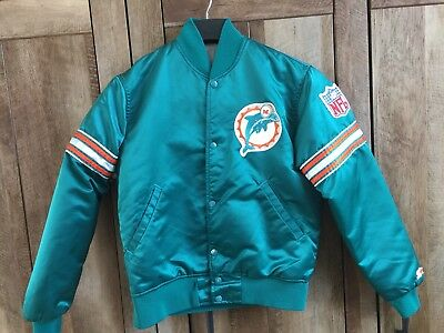 Vintage NFL Miami Dolphins Starter Jacket Quilted Small   Old Logo