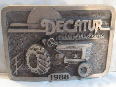 Belt Buckle Decatur Pride of the Prairie 1988 Farmall M  Limited Edition
