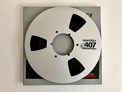 """Quantegy 407 10.5"""" Metal Tape Reel. Boxed With 1/4"""" Tape. Excellent Condition"""